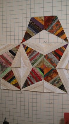from Bonnie Hunter's first book, Scraps and Shirttails.   Inspiration for a scrappy quilt