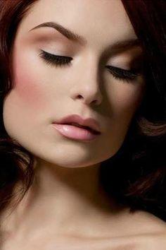 pink blush holiday makeup