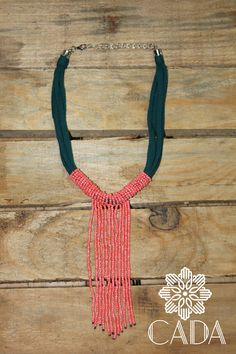 recycled tshirt necklace Q40.00