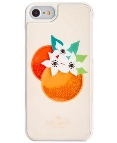 kate spade new york Orange Shaky Gems iPhone 7 Case - Ivory/Cream