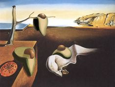 The Persistence of Memory with Avocado, Salvador Dali, 1931 Salvador Dali Tattoo, Salvador Dali Quotes, Salvador Dali Paintings, Avocado Cartoon, Avocado Art, Salvador Dali Photography, Dali Clock, History Cartoon, Famous Pictures