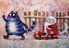 Картинки синие коты - 0b