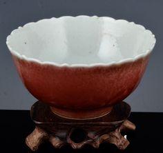 V.RARE 17THC CHINESE KANGXI LANGYAO PEACHBLOOM FLAMBE GLAZE MALLOW FORM BOWL Serving Bowls, Glaze, Porcelain, Chinese, Pottery, Antiques, Tableware, Ebay, Mixing Bowls