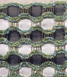 Layered Weave, Honeycomb, Textile Art, Weaving, Textiles, Motifs, Layers, Design, Decor