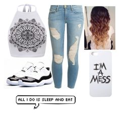 """and be on my phone ✆"" by ashanti-11 ❤ liked on Polyvore"