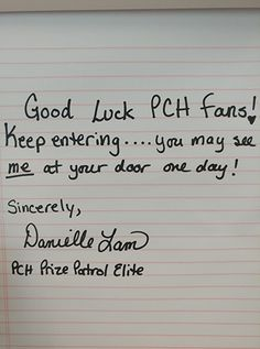Danielle, Author at PCH Blog Instant Win Sweepstakes, Online Sweepstakes, Win For Life, Application Letters, Congratulations To You, Publisher Clearing House, Winning Numbers, Team Member, I Win
