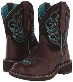 Ariat Women's Fatbaby Heritage Dapper Western Cowboy Boot, Royal Chocolate/Fudge, M US Cute Cowgirl Boots, Western Boots, Western Cowboy, Camo Boots, Country Boots, Cute Shoes, Me Too Shoes, Ariat Boots Womens, Water Shoes For Kids