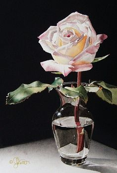 Still Life with Pink Rose. Jacqueline Gnott