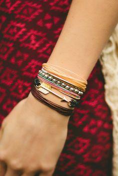 Stacked Bracelets // Pura Vida