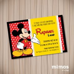 Convite Digital - Mickey Mouse I