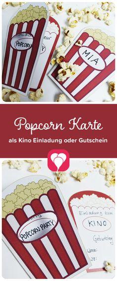 Mit Dieser Popcorn Tüte Als Einladung Kannst Du Die Geburtstagskinder Zur  Nächsten Kindergeburtstagsparty Passend Einladen. Die Karte Kannst Du Auch  Als ...