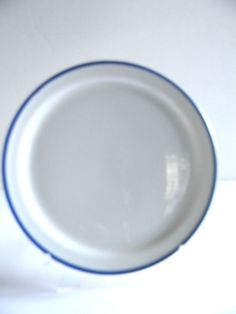 """AA American Airlines Plate Sango China Japan 73-PL-70 Blue Stripe 6"""""""