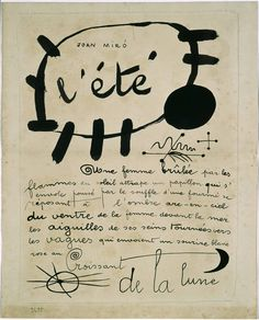 l'été Poema-cuadro Joan Miró 1927 - Pesquisa Google
