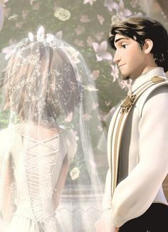 Rapunzel and Flynn's / Eugene Wedding Tangled Walt Disney movie animation