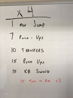 Crossfit workout from the garage...