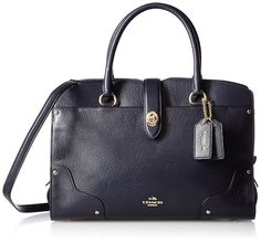 COACH Womens Mercer 30 Satchel *** See this great product. (This is an affiliate link) Leather Satchel Handbags, Leather Purses, Crossbody Bag, Structured Bag, Cute Bags, Shoulder Handbags, Real Leather, Purses And Bags, Virgin Islands