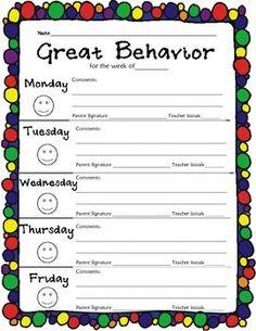 ... | Individual Behavior Chart, Behavior Report and Behavior Log