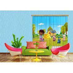 Dr. Plüssi dekor gyerek függöny, blackout (280 x 245 cm)