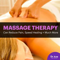 Massage therapy - Dr. Axe http://www.draxe.com #health #holistic #natural