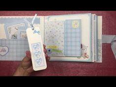 "Álbum ""Dulce bebé "" de Litoarte - YouTube Scrapbook Bebe, Papel Scrapbook, Album Baby, Mini Photo, Hobbies And Crafts, Mini Albums, Decoupage, Baby Boy, Youtube"
