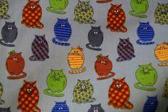 Stenzo15 7009-09 Cotton poplin poezen blauw/groen/oranje