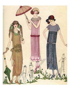 1920's Fashion Illustration.                                                                                                                                                      Más