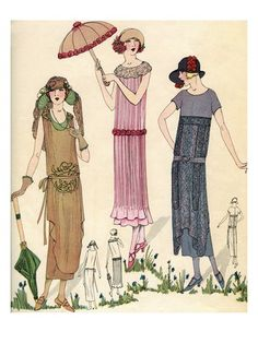 1920s Fashion Illustration.