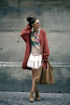 40 Ways to wear a Cardigan with STYLE | http://hercanvas.com/ways-to-wear-a-cardigan-with-style/