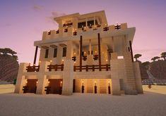 Desert Stone House De Luxe - Minecraft, Pubg, Lol and Mobs Minecraft, Craft Minecraft, Minecraft Structures, Easy Minecraft Houses, Skins Minecraft, Minecraft Castle, Minecraft Plans, Minecraft Decorations, Minecraft Construction