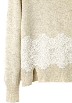 Girl by Band of Outsiders Lace Pullover