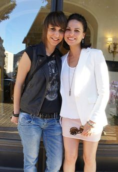 Lana with an Once fan at the Monte Carlo TV Festival