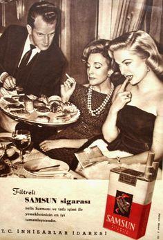 Filtreli SAMSUN sigarası nefis harmanı ve tatlı içimi ile yemeklerinizin en iyi tamamlayıcısıdır. TÜRKİYE CUMHURİYETİ İNHİSARLAR İDARESİ.