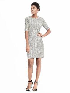 Boucle sheath dress