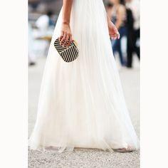 white tulle maxi skirt