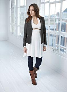 Isabella Oliver | Dover Leather Maternity Jacket....love!