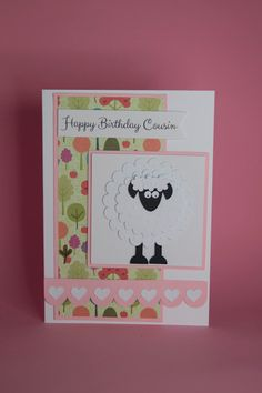 Handmade Sheep birthday card sheep lover birthday card