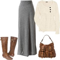 I love ankle length skirts for church and this outfit looks comfy, yet sophisticated! Totally what I want for church.
