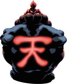First Bio) Akuma - The Supreme Master of the Fist. This symbol is the japanese kanji for Heaven, Angel and also Ten. Street Fighter 1, Street Fighter Tekken, Street Fighter Characters, Art Of Fighting, Fighting Games, Street Fighter Wallpaper, Sf Wallpaper, Culture Art, Street Fights