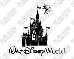 Disney World Castle with Tinkerbell SVG Cut File Set for Custom Disney Vacation Shirts in SVG, EPS, DXF, JPEG, & PNG for Cricut, Silhouette & Brother ScanNCut