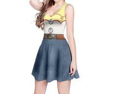 Jessie Toy Story Inspired Skater Dress