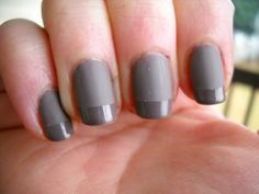 Mixing matte base with glossy tips.. kind of looks like bed sheets to me! Cool.