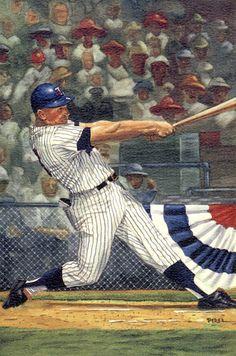Harmon Killebrew - Watercolor by Dick Perez Famous Baseball Players, Mlb Players, Twins Baseball, Baseball Art, Mlb Uniforms, Baseball Painting, Sports Art, Sports Pics, Baseball Pictures