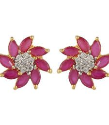 Buy Red Cubic Zirconia studs stud online
