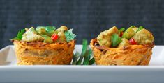 Sweet Potato Cups (filled with chicken curry) Phillips-Barton Phillips-Barton at Swiss Paleo Paleo Chicken Recipes, Primal Recipes, Clean Recipes, Whole Food Recipes, Healthy Recipes, Whole30 Recipes, Paleo Food, Potato Recipes, Cena Paleo