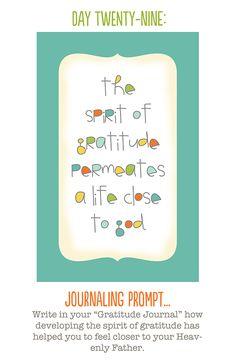 The 30 Day Gratitude Challenge