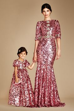 Glamorous outfits for mum and daughter. This luxury and glamorous Dolce and Gabbana is the ultimate outfit for any big family occasion.