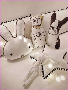 Miffy bonito/lenços urso/Bulldog travesseiro para as crianças decoração do quarto dos desenhos animados car segure travesseiro cintura travesseiro em Travesseiro de Mãe & Kids no AliExpress.com   Alibaba Group