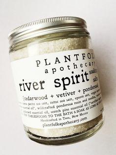 Image of river spirit // white fir + cedarwood botanical salt soak