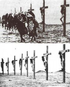 "threatre–bizarre: "" 1915 - Armenian women being crucified during the Armenian genocide """