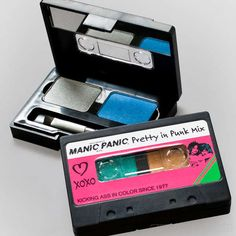 The Manic Panic Cassette Eye-Shadow Compact is 80s Punk #design trendhunter.com